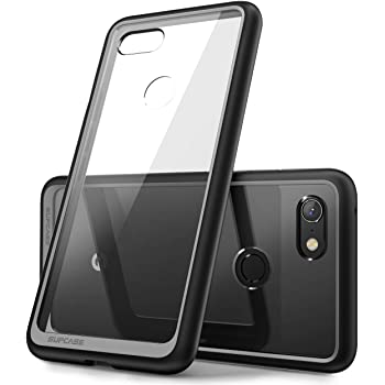 SUPCASE Google Pixel 3XL ケース 背面クリア スマホケース スマートフォン 透明 衝撃吸収 米軍MIL規格取得 保護カバー TPUバンパー 黒