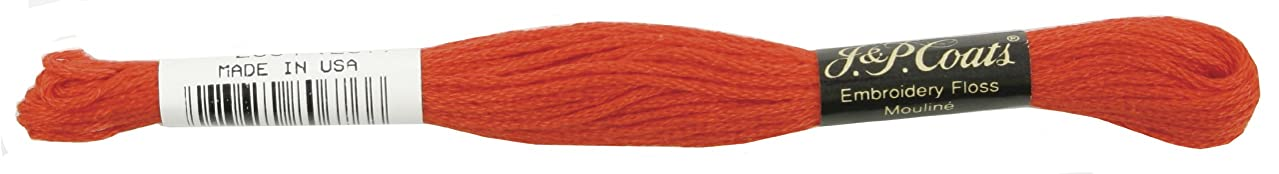 Coats Crochet 6-Strand Embroidery Floss, Bright Orange Red, 24-Pack