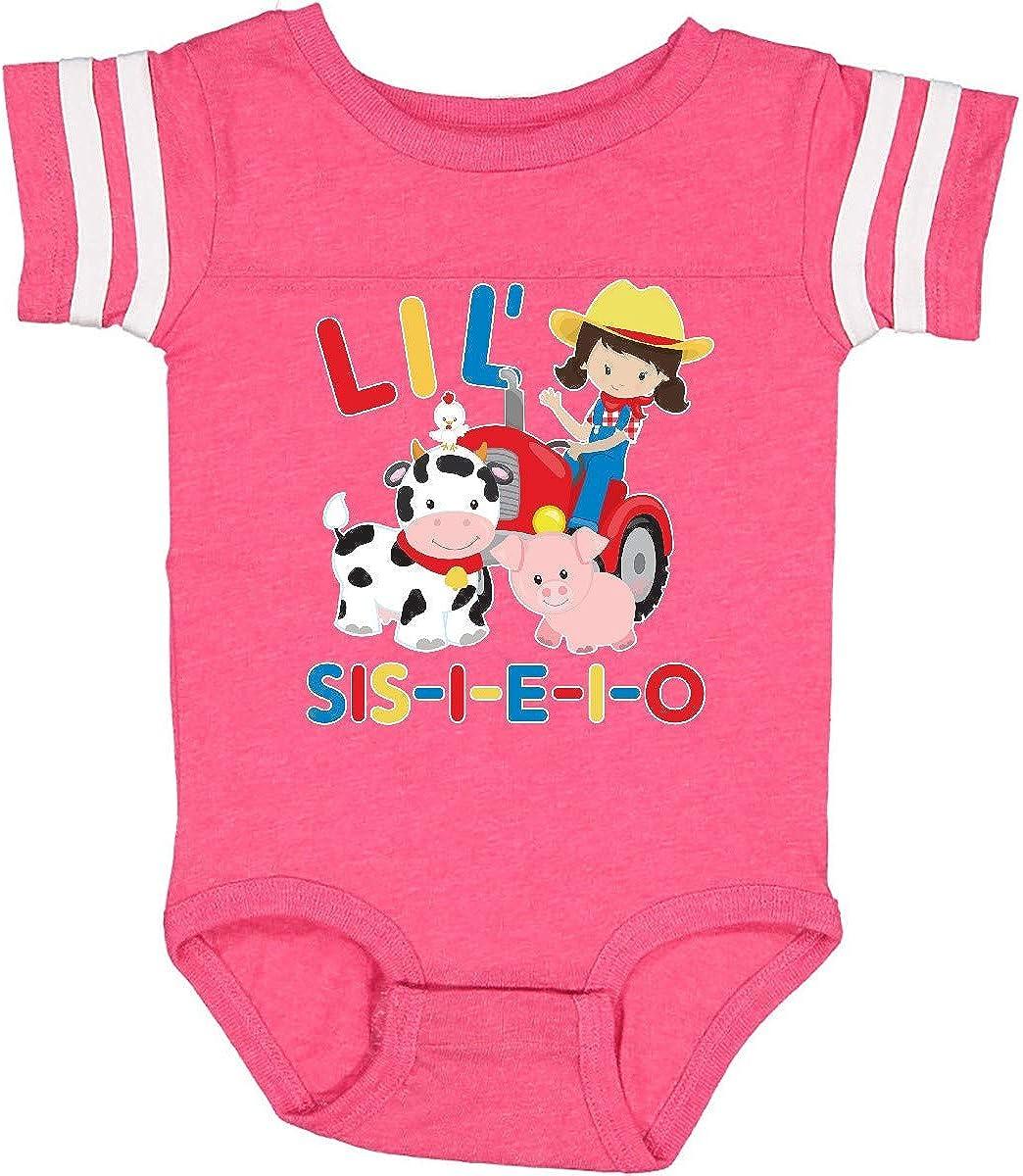 inktastic Farmer Tractor EIEIO Little Sis Infant Creeper