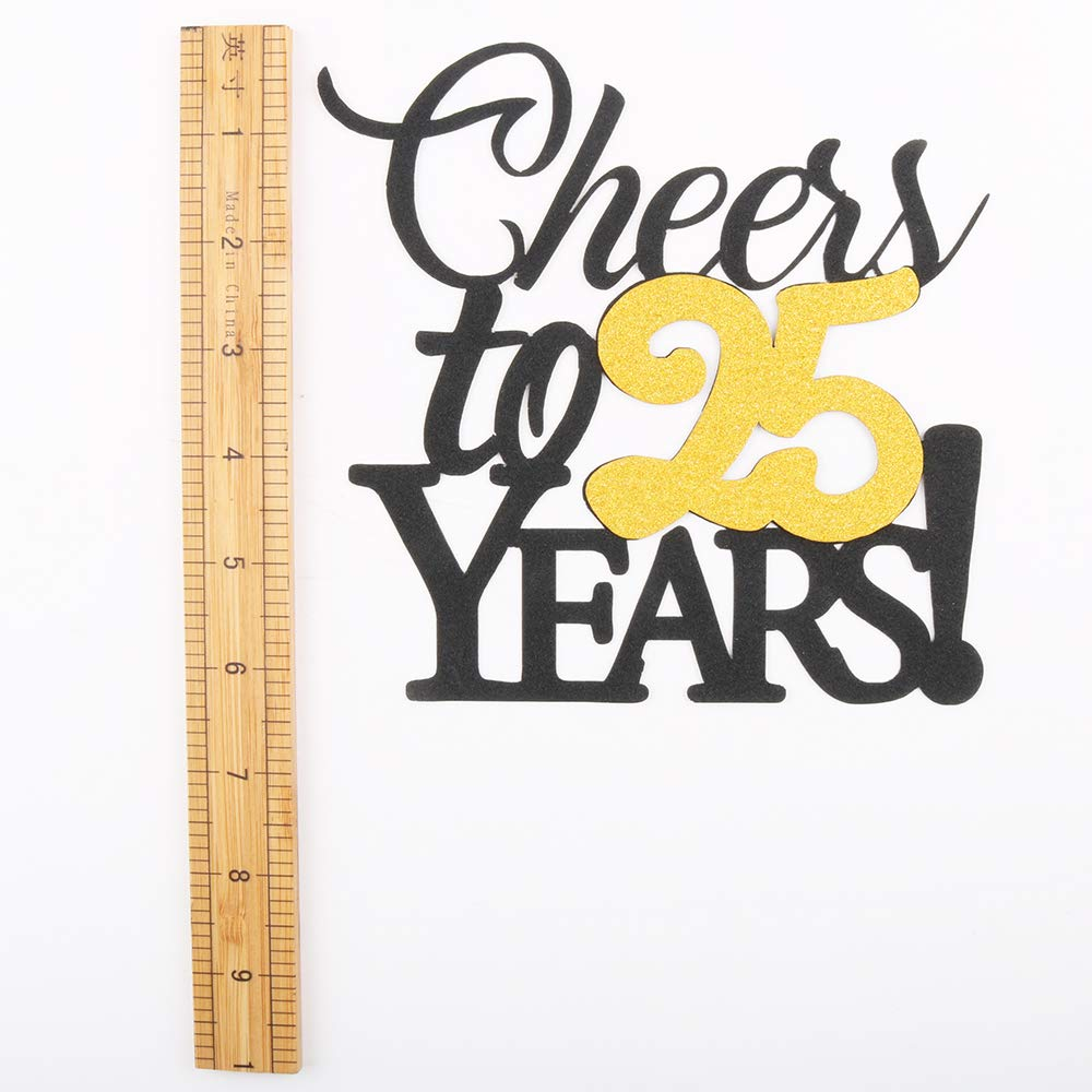 LVEUD Happy Birthday Cake Topper Black Font Golden Numbers 75th Birthday Happy Cake Topper,digital 75 Paper cup Cake topper,Birthday Party Decorations(1+6) 75