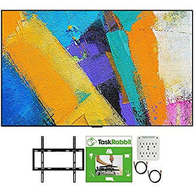 LG GX 4K Smart OLED TV with AI ThinQ 2020 Model Bundle with TaskRabbit Installation Services + Deco Gear Wall Mount + HDMI Cables + Surge Adapter by LG