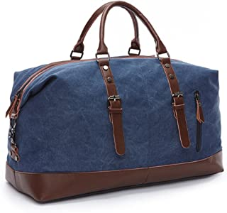 Canvas Duffel Bag Weekend Travel Tote Luggage Bag with Strap
