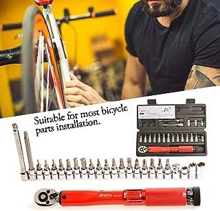 Chengstore Torque Wrench Tool,bike Tools Screwdriver Set Adjustable Torque Wrench Allen Key Tool Socket Set Kit 2-24Nm - S...