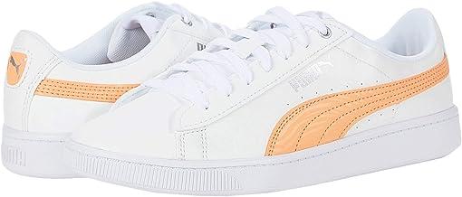 Puma White/Cantaloupe/Puma Silver