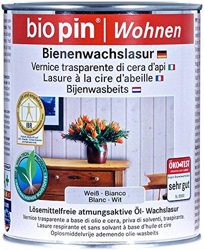 Biopin Bienenwachslasur-weiß-2,50 l
