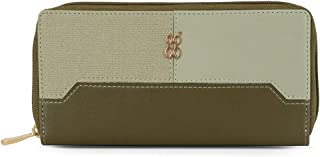 Baggit Spring-Summer 2021 Faux Leather Women's Ziparound Wallet (Green) (Lwxe Natalie)