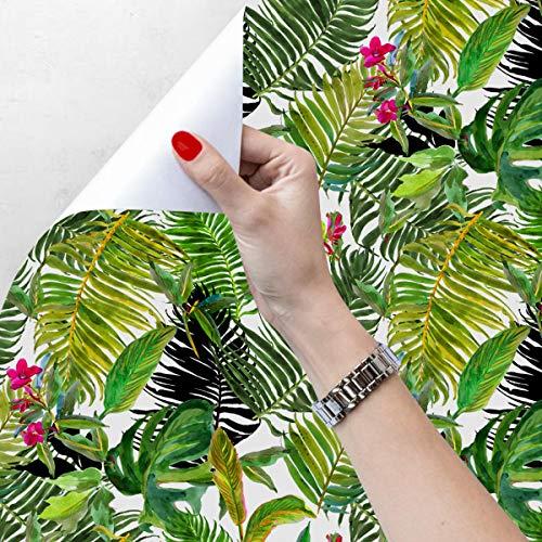 N Een creatieve Cartoon Tropische Jungle Muursticker Kids Kamer Slaapkamer Achtergrond Muur Deuren En Windows Pvc Verwijderbaar Waterdicht