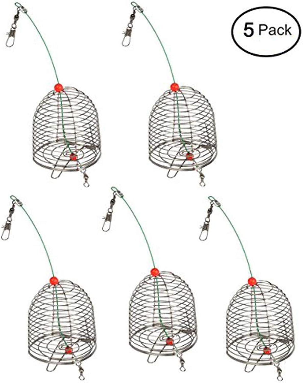 Vivian Fishing Bait Trap Cage Feeder Basket Lures Bait Fishing Accessories 5 PCS