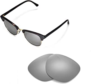 Walleva Replacement Lenses for Ray-Ban Clubmaster RB3016 51mm Sunglasses - Multiple Options
