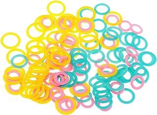 Bonarty 120x Marqueurs de Point en Plastique Marqueurs à Tricoter Anneaux Lisse Crochet Point Marqueur Anneau Assortis Tri...