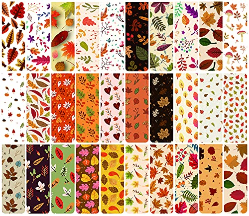 30 Pieces Magnetic Bookmarks Floral Maple Leaf Fall Book Marker for Women Kids Students Girls Book Lovers (Yellow)