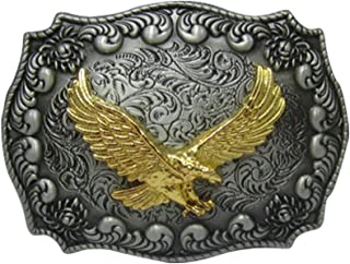 Alloy Unisex Vintage Engraved Soaring Eagle Western Belt Buckle