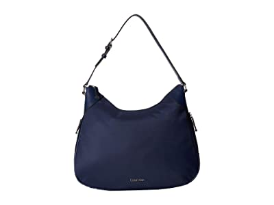 Calvin Klein Abby Nylon Hobo (Navy) Hobo Handbags
