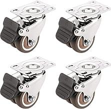 WSWJ Mute Roller verplaatsen van meubilair Rubber wiel worden vastgesteld met Brake Casters (Color : B)