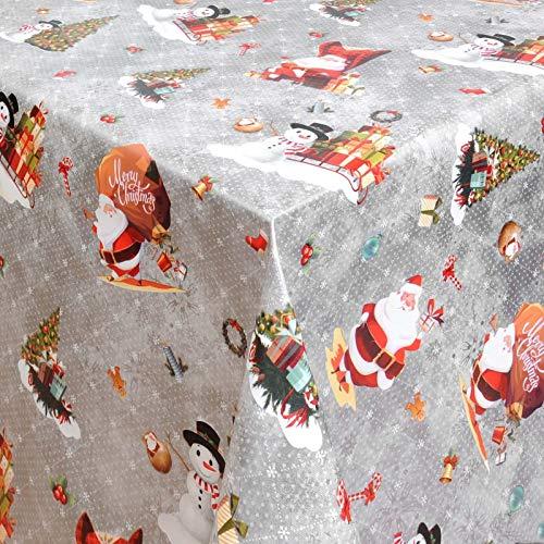 Wachstuch Wachstischdecke Tischdecke Gartentischdecke Weihnachten Zuckerstange Silber Breite & Länge wählbar 140 x 100 cm Eckig abwaschbar
