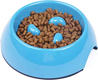 SuperDesign 犬猫用ボウル ペット食器 早食い防止 食事 滑り止め 小中型犬用 給餌器 洗いやすい ペット皿 ゆっくり食べる食器