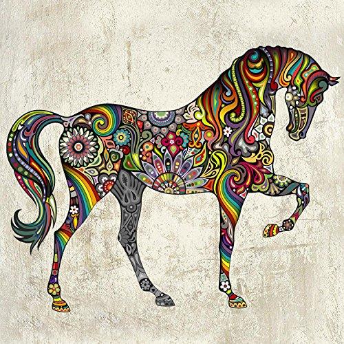 Muurstickers Artwork Art Sticker Decal Mural Multi Styles Vinyl Muurstickers Home Decor Creativegift Marks Patroon Paard Slaapkamer Woonkamer Achtergrond Decoratie Creatieve Kunst 37 * 47Cm