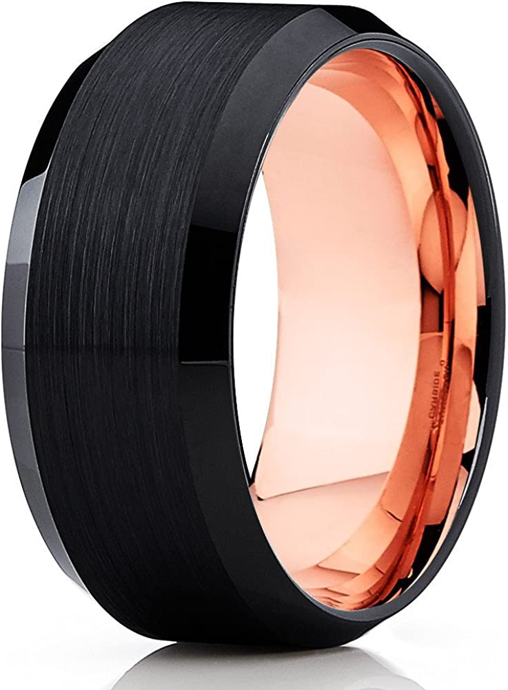 Cheap super special price Silly Kings Miami Mall Rose Gold Tungsten Wedding 18k Band Women Men
