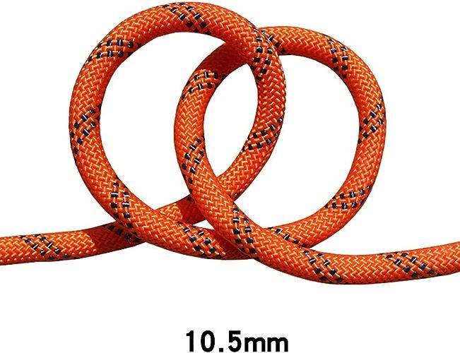 LIZIPYS Cordes Corde de sécurité pour Corde d'escalade Corde de Descente Rapide Corde d'escalade Corde pour Travail aérien Diamètre 10.5mm Orange Noir