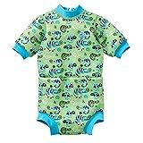 Splash About Baby Happy - Traje de neopreno para pañales, color verde (verde geco verde), tamaño mediano (3 a 8 meses)