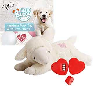 ALL FOR PAWS AFP Snuggle Sheep Pet Behavioral Aid Toy Plush Toy (Double Heartbeat)