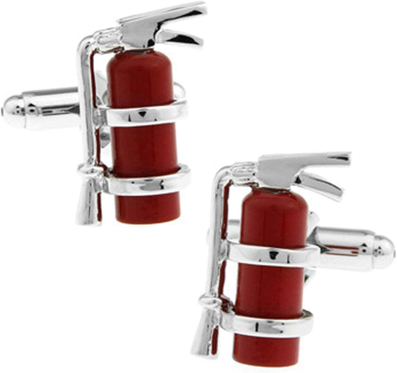 Daesar Men Cufflink Shirt Cufflinks Shirt Studs Extinguisher Cufflinks for Men Red