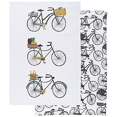 Danica Studio Cotton Kitchen Towels, Set of Two, Bicicletta