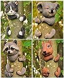 Garden Mile - Decoración para árbol de jardín, elemento decorativo con diseño de animal agarrado a un árbol, esculturas para jardín, decoración del hogar