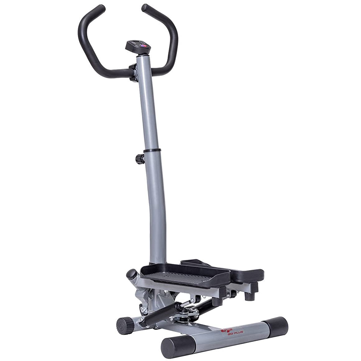 Goplus Stair Stepper Twister 2 in 1 Step Machine Fitness Exercise Workout with Handle Bar and LCD Display Cardio Trainer Stair Climber