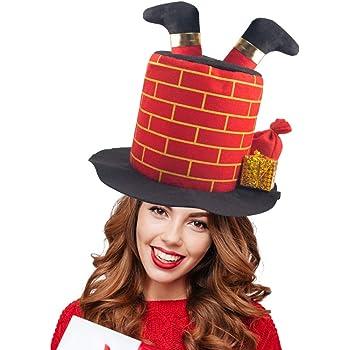 Holiday Christmas Santa Chimney Hats for Adults and Kids Santa Chimney Hat Windy City Novelties