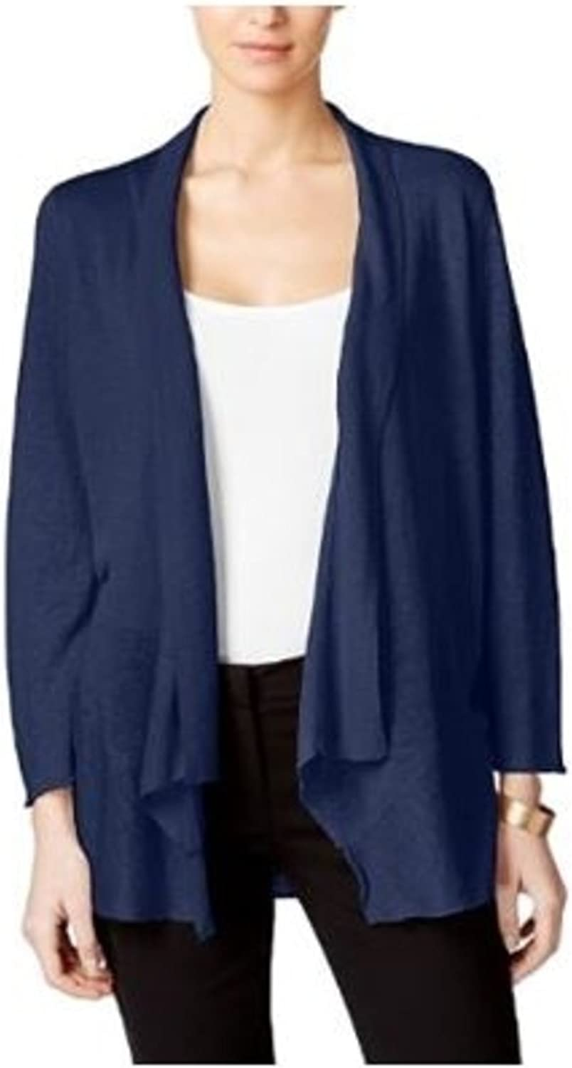 Alfani Womens Navy Long Sleeve Open Cardigan Top US Size  XL