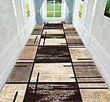 XOCKYUE Alfombras para Pasillo Modernas Lavables Antideslizante Largas Alfombra Escalera a Medida Impresión por Metros -0.8x4m