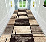 XOCKYUE Alfombras para Pasillo Modernas Lavables Antideslizante Largas Alfombra Escalera a Medida Impresión por Metros -Los 1x5m