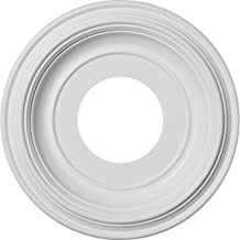 """Ekena Millwork CMP10TR 10"""" OD x 3 1/2"""" ID x 1 8"""" P Traditional Ceiling Medallion (Fits Canopies up to 3 1/2""""), White"""