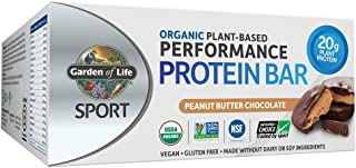 Garden of Life Organic Sport Protein Bar, Vegan, Peanut Butter Chocolate,12 Count *Packaging May Vary*