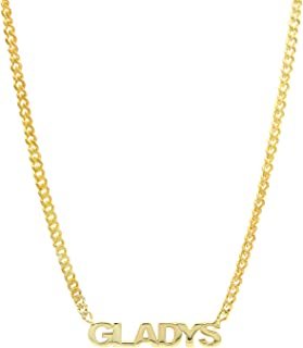 Collana con nome - Collana con nome - Collana personalizzata - Collana girocollo con catena a catena Curb