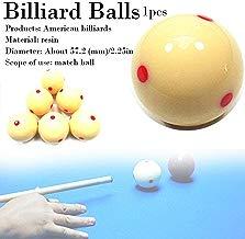 AITOCO Bola de señal de Billar Blanca con Puntos Rojos, Mesa de Billar de Snooker Bola de señal de Punto de Entrenamiento