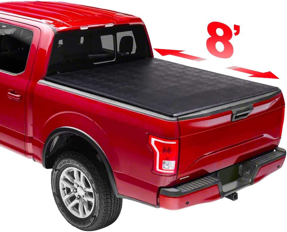 8' Soft Some reservation Trifold Tonneau Cover Styleside Bed for fit Truck depot