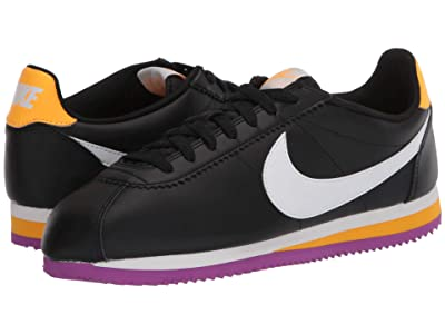 Nike Classic Cortez Leather (Black/Summit White/Laser Orange) Women