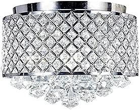 New Legend Lighting Chrome Crystal Flush Mount Chandelier