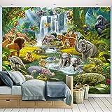 Fototapete Dschungel Abenteuer inkl. Tapetenkleister Kindertapete Wandtapete