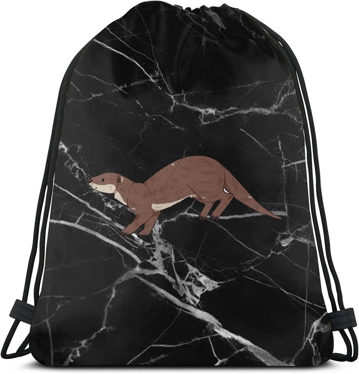 Boston Mall Women Men Nashville-Davidson Mall Otter Drawstring Backpack Sackpack String Bags for Gym