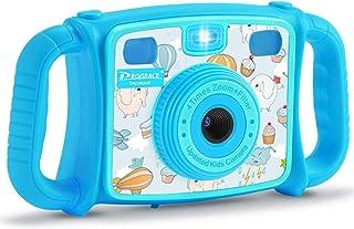 DROGRACE - Cámara Infantil con Zoom de 4 aumentos (Azul)