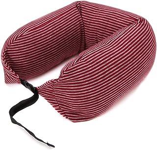 U-Shaped Pillow Travel Pillow Neck Pillow Train Airplane Sleep Pillow NAP Pillow DWWSP (Color : Red)
