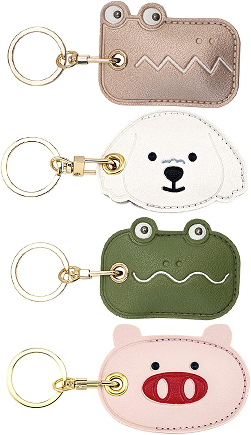 Cute Anti-Lost Case for AirTag,2021 New Protective Case Cover with Keychain Ring Designed,Safety Airtag Tracking Locator Anti-Lost Tracker Finder Protector (4PC A)