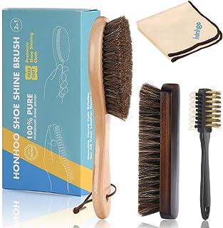 Honhoo 2021 Shoe Cleaning Kit, Polish Brush, Suede and Nubuck Cleaning Brush and Leather Care Brush with Premium Shoe Shin...
