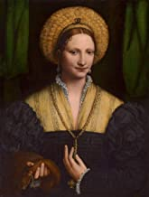 Fine Art Print - Bernardino Luini - Portrait of a Lady 1520 - Vintage Wall Decor Poster Reproduction - 24in x 32in