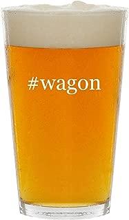 #wagon - Glass Hashtag 16oz Beer Pint