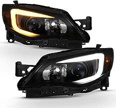 ACANII - For [Halogen Model] Black Smoked 2008-2014 Subaru Impreza WRX Switchback LED DRL Projector Headlights Headlamps