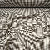 Stoff Baumwolle Vichy Karo braun weiß 2,5 mm Swafing